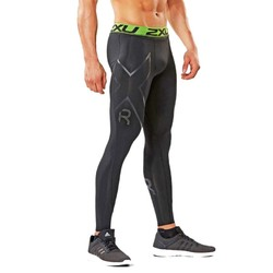 2XU Mens Refresh Recovery Tights - Black/Nero