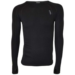 XTM Merino Mens Crew Neck Base Thermal Top - Black