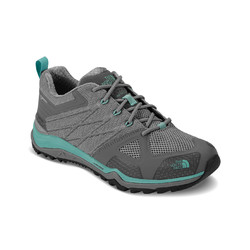 The North Face Womens Ultra Fastpack II Goretex Hiking Shoes -  Moon Mist Grey/Agate Green