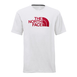The North Face Mens Short Sleeve Half Dome Tee - TNF White/TNF Red