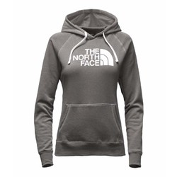 The North Face Womens Half Dome Hoodie - Medium Grey Heather/White