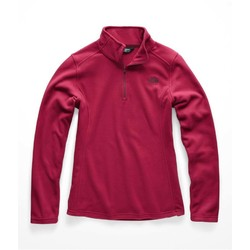 The North Face Womens Tka 100 Glacier 1/4 Zip Fleece - Rumba Red