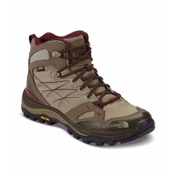 The North Face Womens Hedgehog Fastpack Mid GTX Waterproof Hiking Boots - Dune Beige/Deep Garnet Red