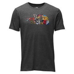 The North Face Mens SS Half Dome Triblend Tee Shirt - Tnfdgh/Tnfbstbp