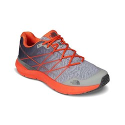 The North Face Mens Ultra Cardiac II Trail Running Shoes - High Rise Grey/Scarlt Ibis