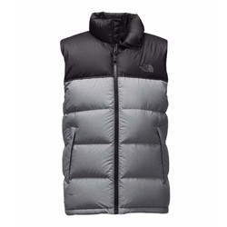 The North Face Nuptse Mens Vest - TNF Medium Grey Heather/TNF Black