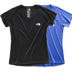 The North Face S/S Reaxion Amp V-Neck Womens Tee