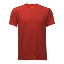 The North Face Mens Kilowatt Short Sleeve Shirt - Poinciana Orange Heather