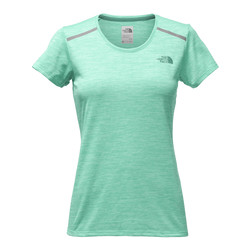 The North Face Womens Adventure Short Sleeve Tee - Pool Green Heather