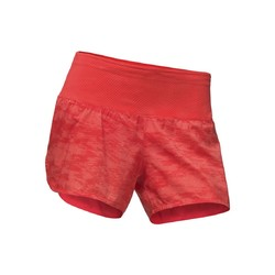 The North Face Womens Flight BTN Running Shorts - Fiery Coral Digicamo Print
