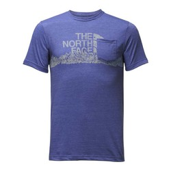 The North Face Mens MTN Triblend Pocket Tee - Brit Blue Heather