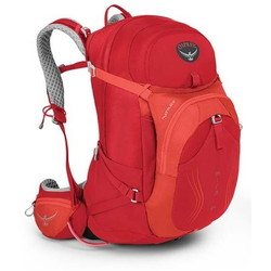 Osprey Mira 34 AG Womens Hydration Backpack - Cherry Red S/M