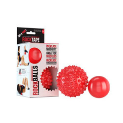 RockTape Rockballs Pk2 Spike + Smooth - Red