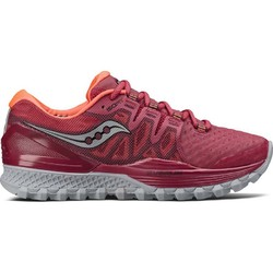 Saucony Xodus ISO 2 Womens Trail Running Shoes-Berry/Coral