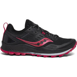 Saucony Peregrine 10 Womens Trail Running Shoes - Black/Barberry