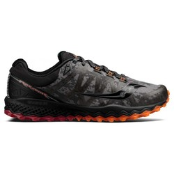 Saucony Peregrine 7 Runshield Mens Trail Running Shoes-Black/Red