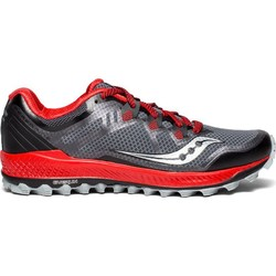 Saucony Peregrine 8 Mens Trail Running Shoes - Black/Red