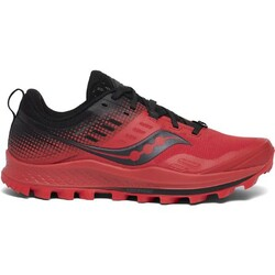 Saucony Peregrine 10 ST Mens Trail Running Shoes  - Red/Black