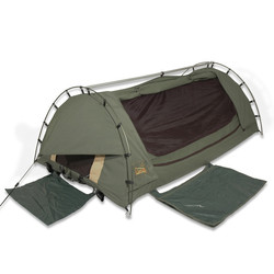 Sahara Drover XL Single Freestanding Dome Canvas Swag with Bag