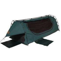 Sahara Explorer King Single Freestanding Dome Canvas Swag - Green