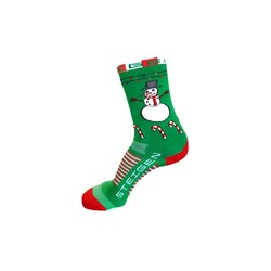 Steigen 3/4 Length Running Socks - Snowman Christmas