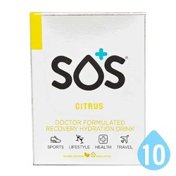SOS Rehydrate Electrolyte Sports Drink - Citrus - 10 Pack