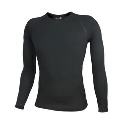 Wilderness Wear Merino Mid 195 Men's Long Sleeve Crew - Black