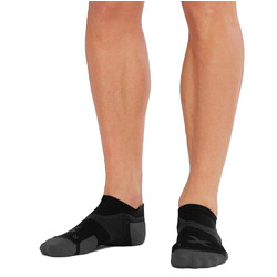 2XU Vectr Cushion No Show Compression Socks - Black/Titanium