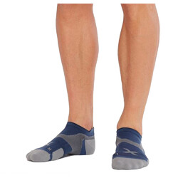 2XU Vectr Cushion No Show Compression Socks - Blue Steel/Grey
