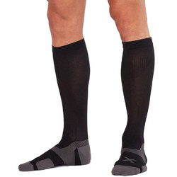 2XU Vectr Cushion Unisex Knee High Compression Socks - Black/Titanium
