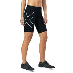2XU Womens Compression Shorts - Black/Silver