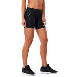 2XU Womens Compression 5 inch Shorts - Black/Nero
