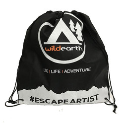 Escape Artist Eco Drawstring Backpack - Black