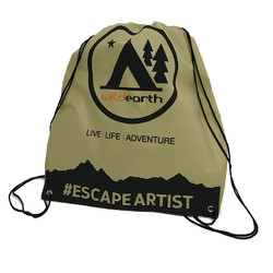 Escape Artist Eco Drawstring Backpack - Cream
