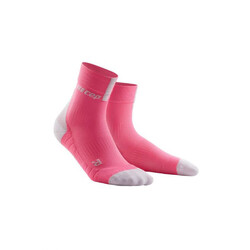 CEP Short 3.0 Women's Compression Socks - Rose/Light Grey