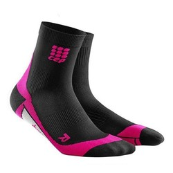 CEP Dynamic+ Womens Short Compression Socks - Black/Pink