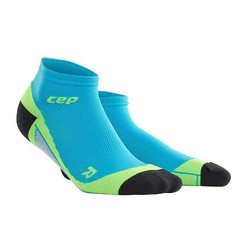 CEP Dynamic+ Low-Cut Mens Compression Socks - Hawaii Blue/Green