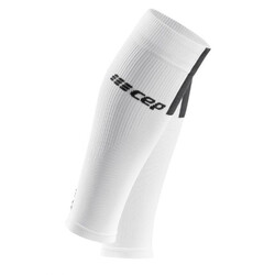 CEP 3.0 Mens Compression Calf Sleeves - White/Dark Grey