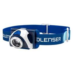 LED Lenser SEO7R Rechargeable Head Lamp with RED LED - 220 lumens Blue