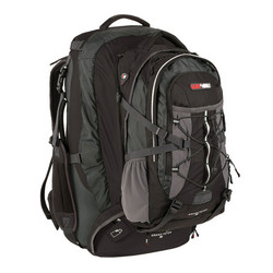 Black Wolf Grand Teton 65L Travel Pack & Zip-off AirTech Daypack - Black