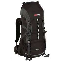 Black Wolf Mountain Ash 65L Hiking Rucksack Pack - Black/Charcoal