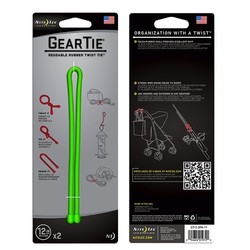 "Nite Ize 12"" Gear Tie 2 Pack - Lime"