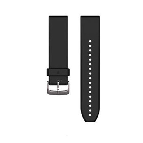 Garmin QuickFit 22 Watch Bands - Black/Silver Silicone