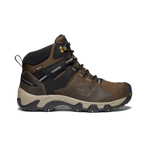 Keen Steens Leather WP Mens Waterproof Hiking Boots - Canteen Black