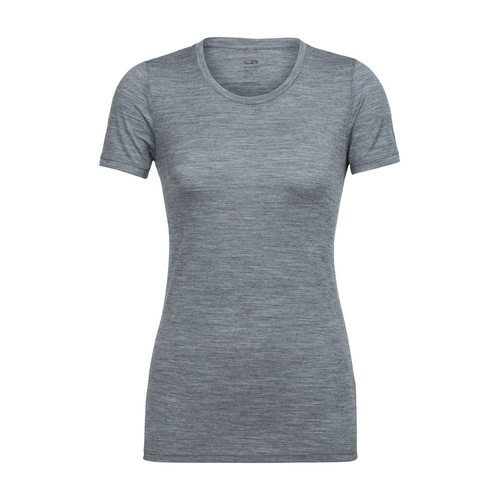 Icebreaker Tech Lite Womens Short Sleeve Merino Low Crewe