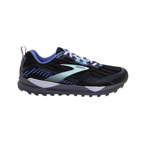 Brooks Cascadia 15 GTX Womens Trail Running Shoes - Black/Marlin/Blue