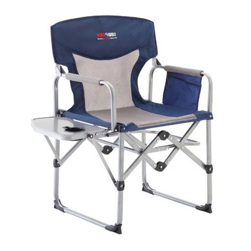 Black Wolf Compact Directors Chair - Blue