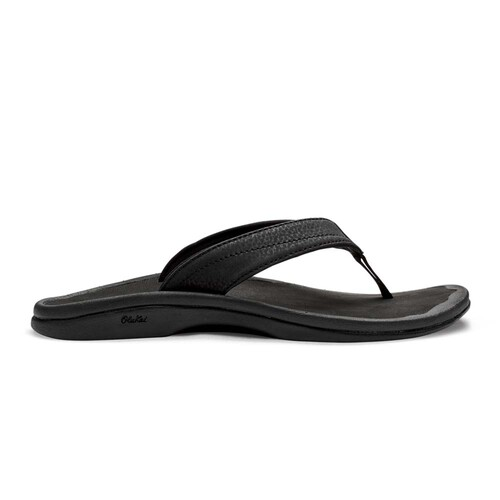 Olukai Ohana Womens Everyday Beach Sandals - Black Black