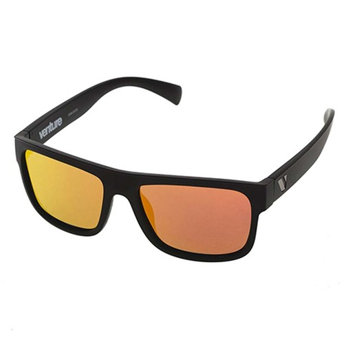 Venture Eyewear Avalanche Polarised Sunglasses - Matt Blk / Red Revo
