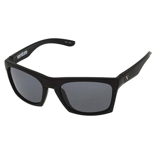 Venture Eyewear Base Camp Polarised Sunglasses - Black/Grey